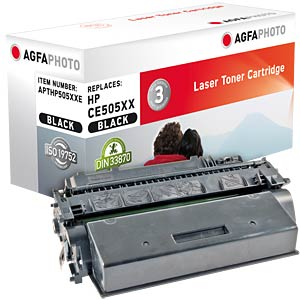 Toner for HP LaserJet P2050 series, black AGFAPHOTO APTHP505XXE