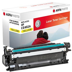Toner for HP LaserJet Enterprise 500, yellow AGFAPHOTO APTHPCE402AE