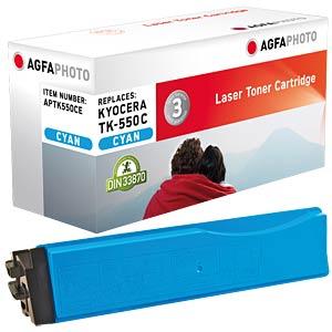 Toner for Kyocera FS-C5200 DN, cyan AGFAPHOTO APTK550CE