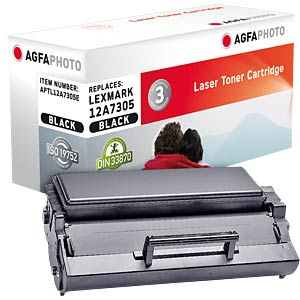 Toner for Lexmark E 321/323, black AGFAPHOTO APTL12A7305E