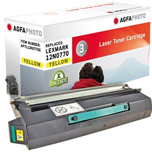 Toner for Lexmark C 910, yellow AGFAPHOTO APTL12N0770E