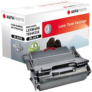 Toner for Lexmark T 654/656, black AGFAPHOTO APTLT654X21E