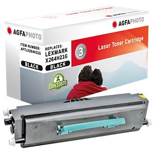 Toner for Lexmark X 264, black AGFAPHOTO APTLX264H21G