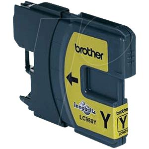 Yellow: Brother DCP-145C, 160C, 195C, 365CN BROTHER LC980Y