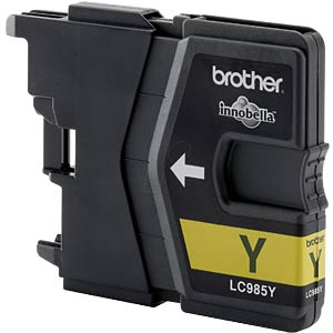 Yellow: Brother DCP-J125, DCP-J315W BROTHER LC985Y