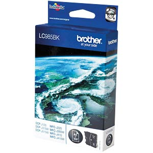 Black: Brother DCP-J125, DCP-J315W BROTHER LC985BK