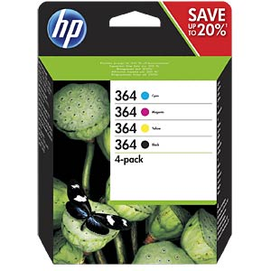 Ink — HP — multipack — 364 — original HEWLETT PACKARD N9J73AE