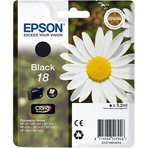 Black: Expression Home XP-102 EPSON C13T18014010
