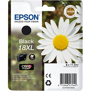 Tinte - Epson - schwarz - T1811 - original EPSON C13T18114012