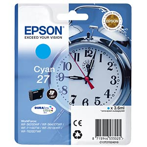 Cyan: WorkForce WF-3620WF... EPSON C13T27024010