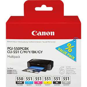 Tinte - Canon - Canon, PGI-550 / CLI-551 - original CANON 6496B005