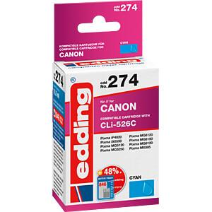 EDDING EDD-274 - Tinte - Canon - cyan - CLI-526 - refill
