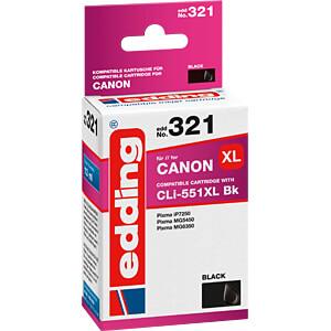 EDDING EDD-321 - Tinte - Canon - schwarz - CLI-551XL - refill
