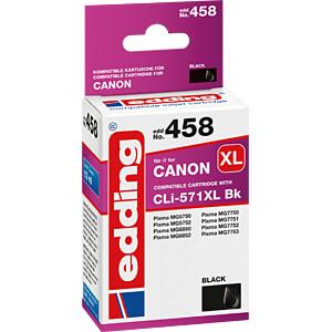 EDDING EDD-458 - Tinte - Canon - schwarz - CLI-571XL - refill