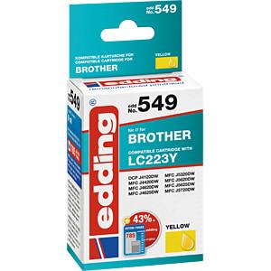 EDDING EDD-549 - Tinte - Brother - gelb - LC223 - refill