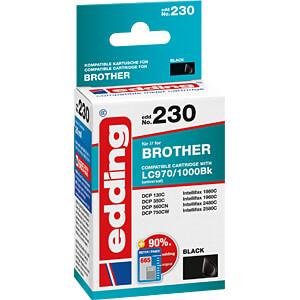 EDDING EDD-230 - Tinte - Brother - schwarz - LC970/1000BK - refill