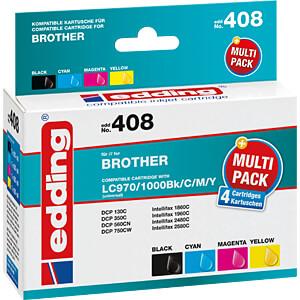Tinte - Brother -  Multipack LC970/1000 - refill EDDING EDD-408