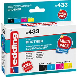 Tinte - Brother -  Multipack LC980 - refill EDDING EDD-433
