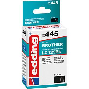 Tinte - Brother - schwarz - LC123BK - refill EDDING EDD-445