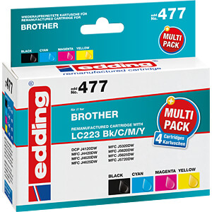 Tinte - Brother -  Multipack LC223 - refill EDDING EDD-477