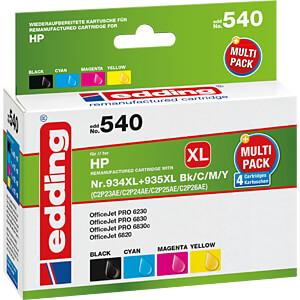 Tinte - HP - Multipack - HP934XL/935XL - refill EDDING EDD-540