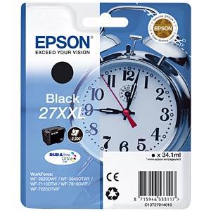 Tinte - Epson - schwarz 27XXL - T2791 - original EPSON C13T27914010