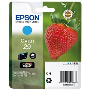 Cyan: Epson Expression Home EPSON C13T29824010
