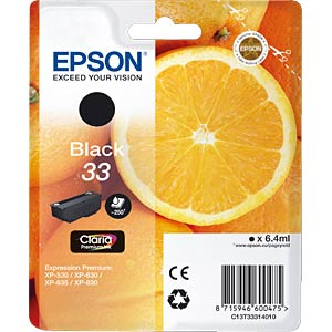 Ink - Epson - black - 33 - original EPSON C13T33314012