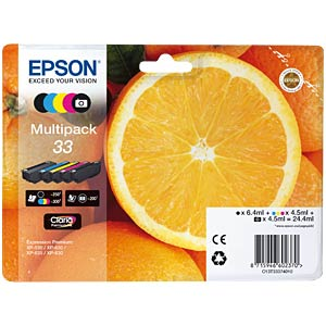 Ink - Epson - multipack - 33 - original EPSON C13T33374010