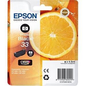Ink - Epson - photoblack - 33 - original EPSON C13T33414010