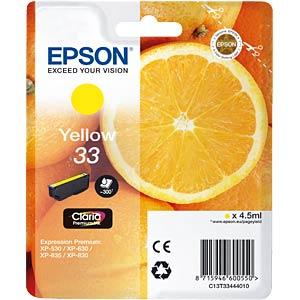 Tinte - Epson - gelb - 33 - original EPSON C13T33444012