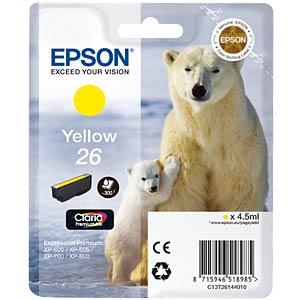 Tinte - Epson - gelb - T2614 - original EPSON C13T26144012