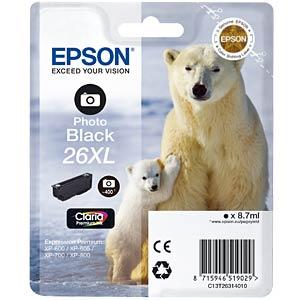 Tinte - Epson - photoschwarz - T2631 - original EPSON C13T26314012