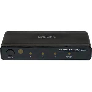 4K HDMI Switch 3-Port LOGILINK HD0012