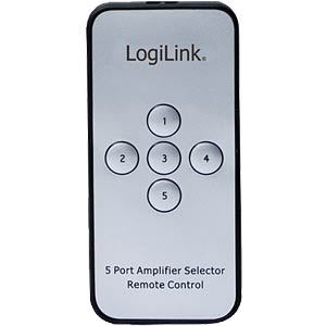 4K HDMI switch, 5-way, remote control LOGILINK HD0013