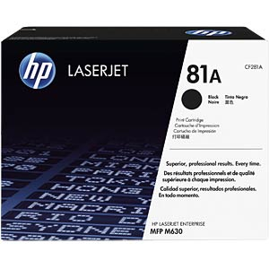 Toner black, HP 81A HEWLETT PACKARD CF281A