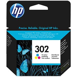 Ink — HP — 3-colour — 302 — original HEWLETT PACKARD F6U65AE
