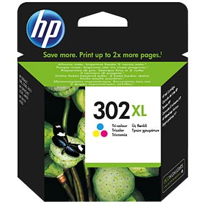 Ink — HP — 3-colour — 302XL — refill HEWLETT PACKARD F6U67AE#UUS