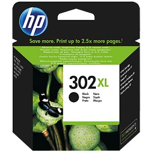 Ink — HP — black — 302XL — original HEWLETT PACKARD F6U68AE#UUS