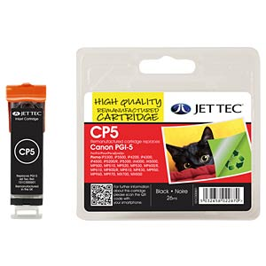 Black pigmented: Canon PIXMA MP500/800/iP4300 JET TEC 101C000501