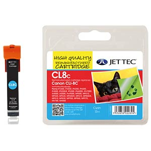 Tinte, cyan - CLI-8 - refill JET TEC 101C000802