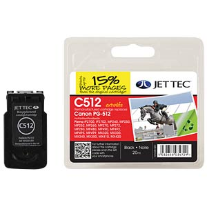 Tinte - Canon - schwarz - PG-512 - refill JET TEC 101C051201
