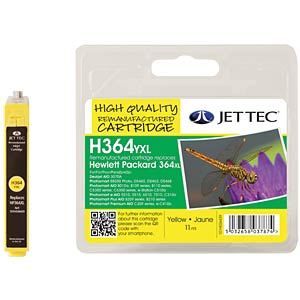 Tinte - HP - gelb - 364XL - refill JET TEC 101H036439