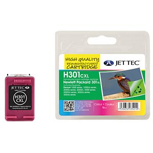 Tinte - HP - 3-farbig - 301XL - refill JET TEC H301XLC
