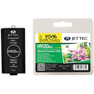 Tinte - HP - schwarz - 920XL - refill JET TEC 101H092030