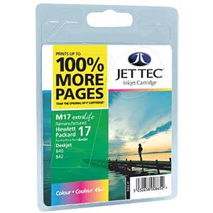 Tinte - HP - 3-farbig - 17 - refill JET TEC 101H001713
