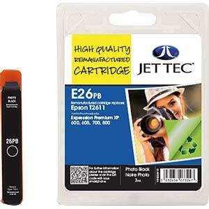 Tinte - Epson - photoschwarz - T2611 - refill JET TEC E26PB