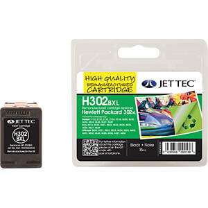Tinte - HP - schwarz - 302XL - refill JET TEC 101H030230
