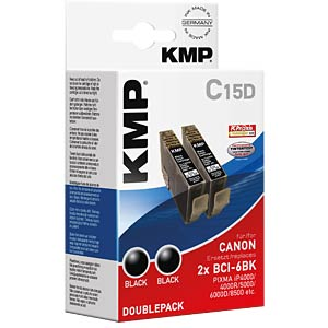 Ink - Canon - black - 2x BCI-6BK - rebuilt KMP PRINTTECHNIK AG 0958,0021