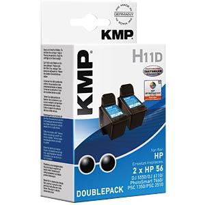 Ink — HP — black — 2x 56 — refill KMP PRINTTECHNIK AG 0995,4021